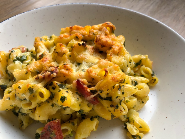 de engelse buurvrouw chorizo spinach mac and cheese gluten free