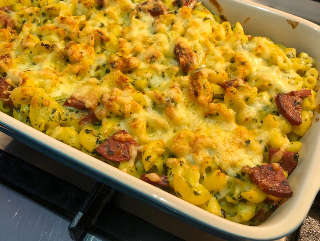 chorizo mac and cheese with spinach de engelse buurvrouw recept ovenschotel
